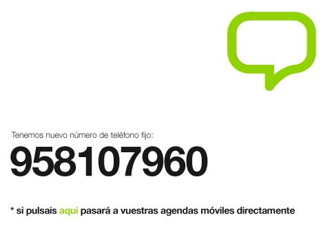 Portada - Nuestro nuevo número de télefono  fijo, empieza por 958…