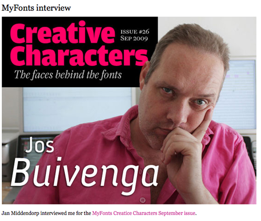 Portada - Diseño de tipografías, Jos Buivenga