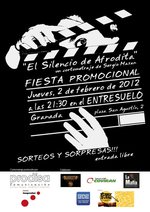Portada - Fiesta Promocional para el cortometraje «El Silencio de Afrodita»