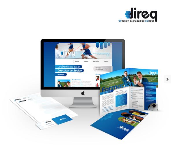 Diseño gráfico web Granada, con mimo. Imagen de marca, logotipo Direq