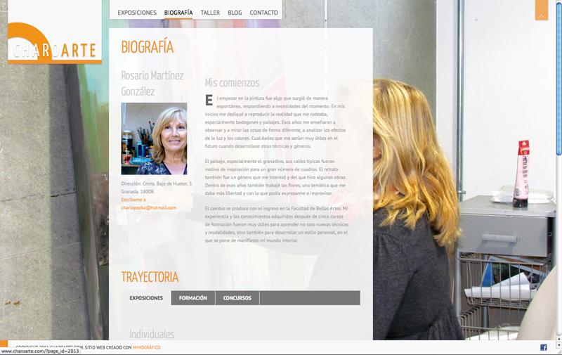 Diseño gráfico y web Granada, mimográfico. Charoarte web 2