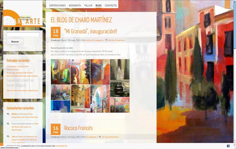 Diseño gráfico y web Granada, mimográfico. Charoarte web