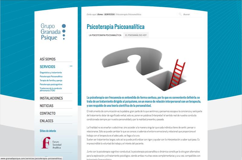 Diseño gráfico y web Granada, mimográfico. Web Granada Psique