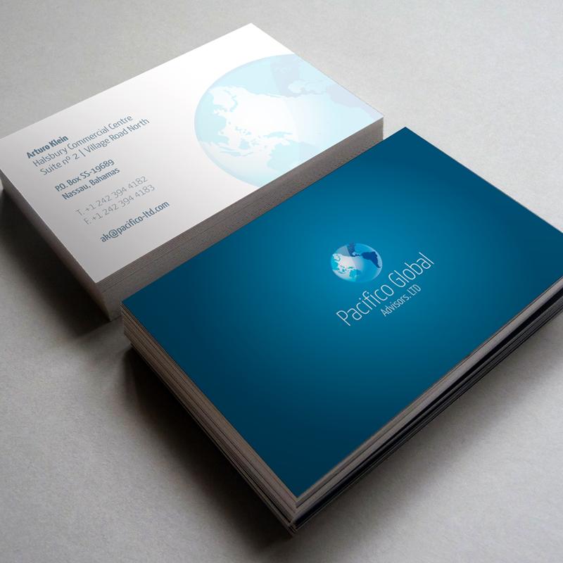 Diseño gráfico y web Granada, mimográfico. Tarjetas de visita Pacifico Global