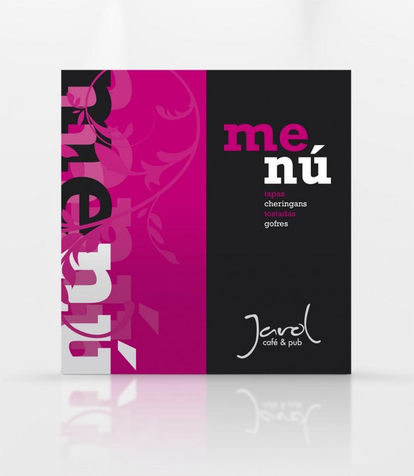 Diseño gráfico y web Granada, mimográfico. Carta menú Jarol