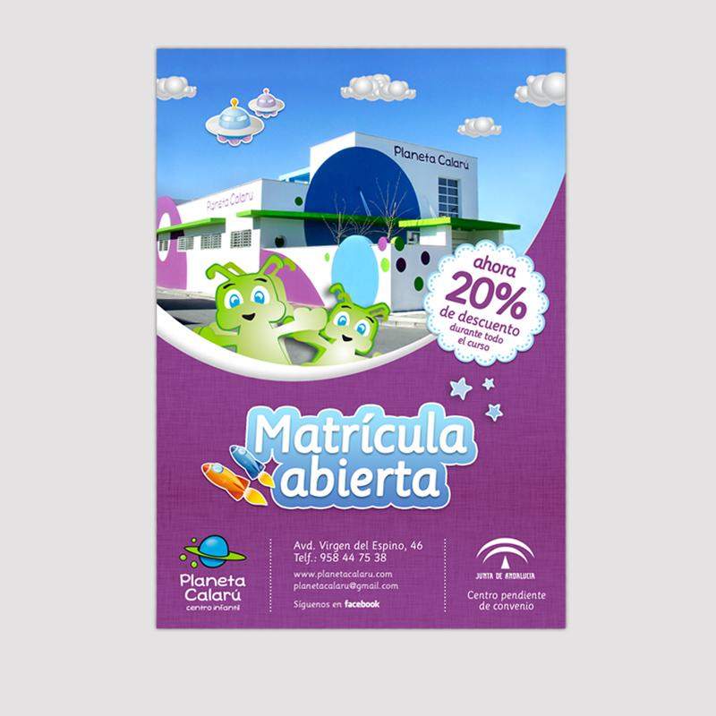 Diseño gráfico y web Granada, mimográfico. Flyers Planeta Calarú