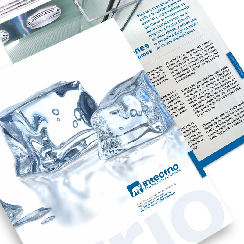 Diseño gráfico y web Granada, mimográfico. Dossier de empresa Intecfrio