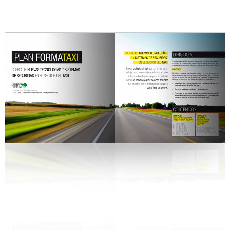 Diseño gráfico y web Granada, mimográfico. Dossier Corporativo Preventaxi