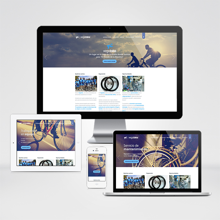 Diseño web Vegabike Granada, elaborado con mimo.