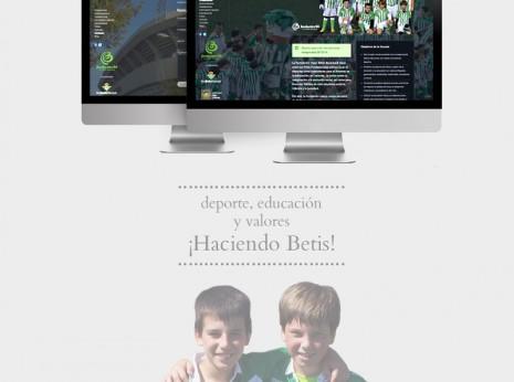 Diseño web Granada Escuela de fútbol Real Betis Balompie, elaborado con mimo.