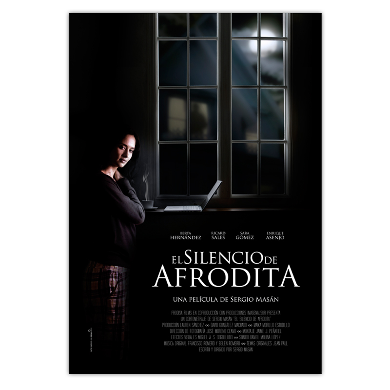 Diseño gráfico Granada. Cartel El silencio de Afrodita elaborado con mucho mimo.