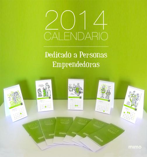 Portada - Calendarios 2014 de «apoyo a emprendedores», con la colaboración de Ana Belén Rivero y mucho mimo ;)