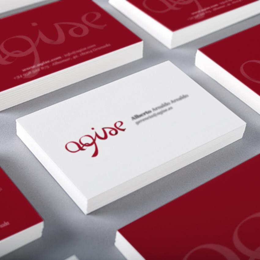 Diseño gráfico Granada, con mimo. Agise imagen de marca, tarjetas de visita y web.