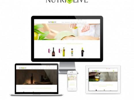 Diseño gráfico Granada, con mimo. Nutriolive tienda online responsive.