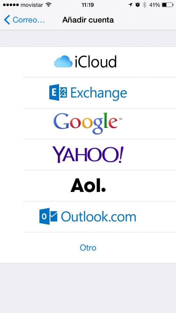 Mimográfico configuración emails ios mail2