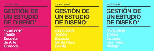 Portada - Gestión de un Estudio de Diseño: mentoring y mesa redonda con la AAD
