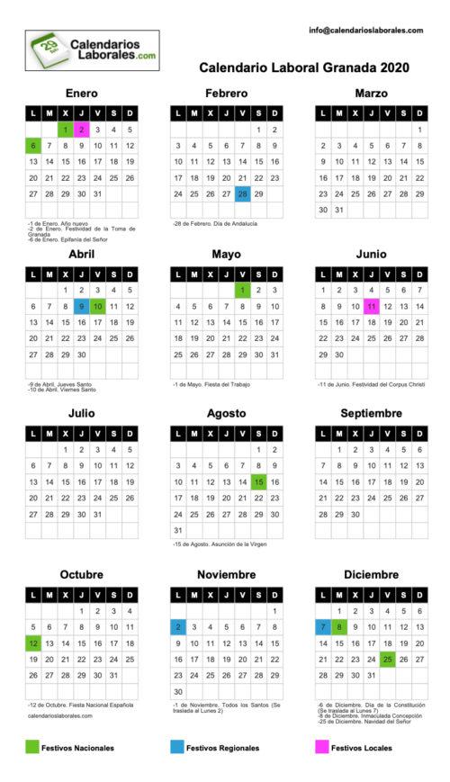 Portada - Calendario laboral 2020