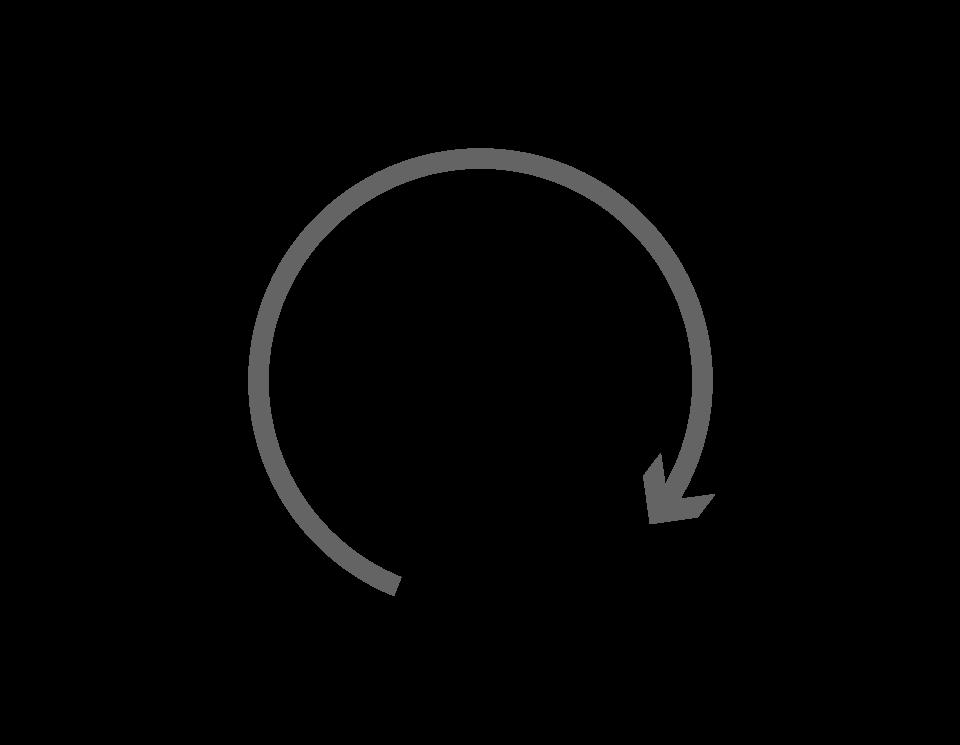 Flecha cíclo gris