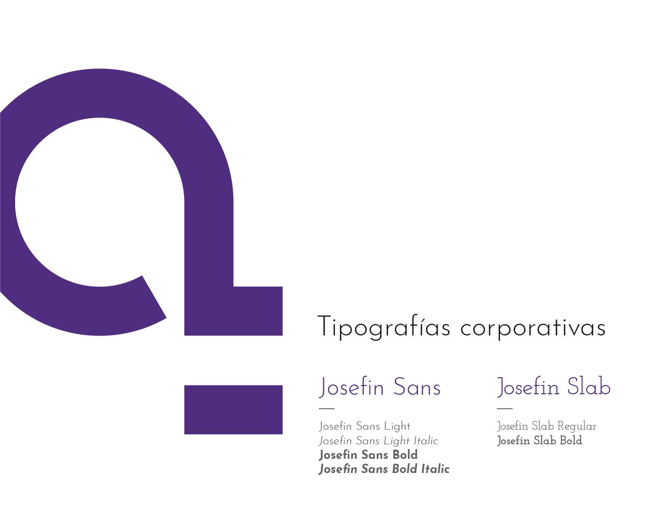 Tipografía corporativa josefin para cíclica