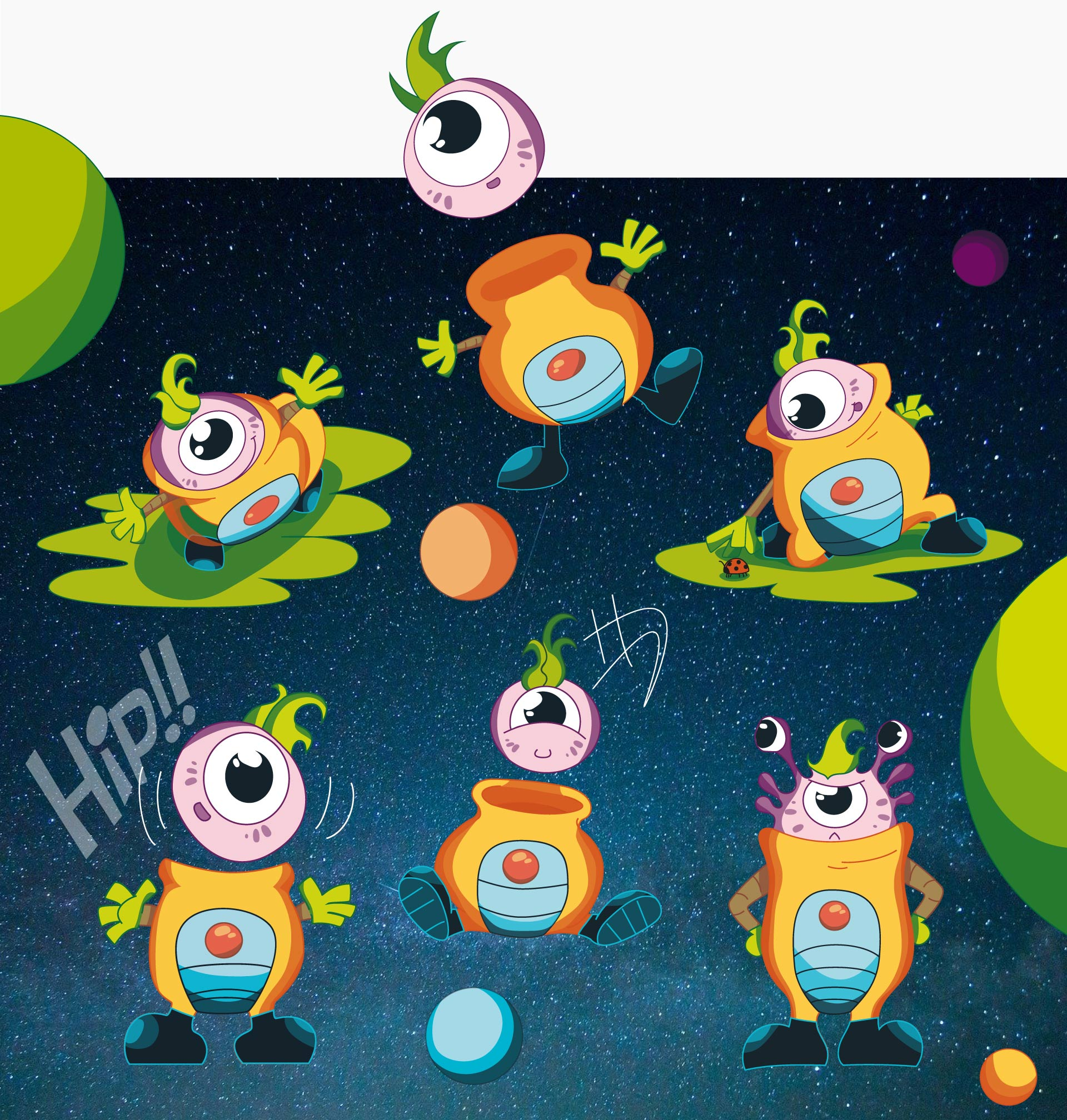 Planet kid's neoky a color
