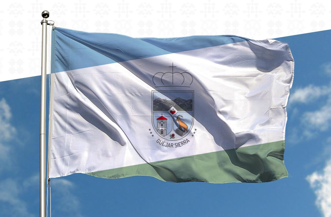 Bandera con Heráldica Güéjar Sierra